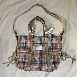 Coach Poppy Daisy Madras Tote Bag